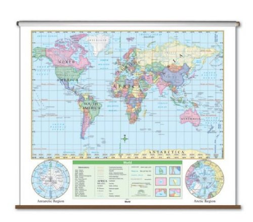 Essential Wall Map - World by Universal Map