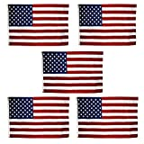 Cheap US Flag 2 x 3 ft: 100% American Made – Nylon – (5 Pack)