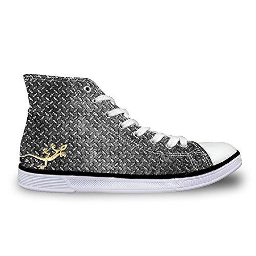 Per Te Disegni Moda Uomo Alto Top Stringate Sneakers Traspiranti Scarpe Di Tela Casual Lucertola-2