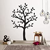 Timber Artbox Large Black Tree Wall Decal - The Easy to Apply Yet Amazing Decoration for Your Home Larger Image