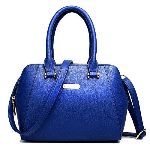 Miss Lulu - Bolso de tela de Otra Piel para mujer Multicolor multicolor Multicolor - azul marino