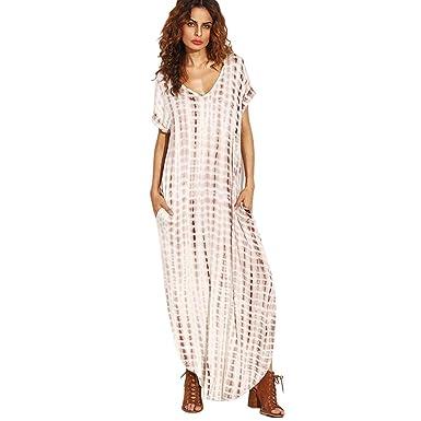 Vestidos Mujer Casual Playa Largos Verano Tie Dye Vestido Boho Hendidura Falda Larga Maxi Vestido Playeros