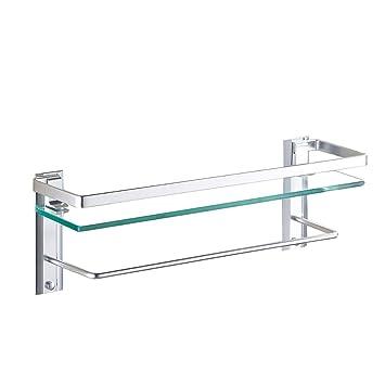 HQQ Accesorios de baño Estante de Cristal del Cuarto de baño ...