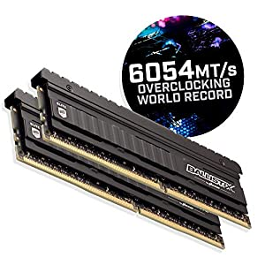 Crucial Ballistix Elite 4000 MHz DDR4 DRAM Desktop Gaming Memory Kit 16GB (8GBx2) CL18 BLE2K8G4D40BEEAK