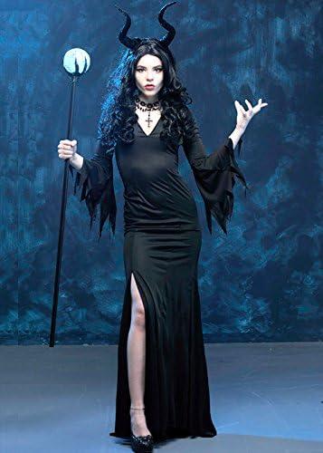 Delights Disfraz de Maléfica Maléfica Reina Malvada para Mujer M/L ...