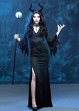 Delights Disfraz de Maléfica Maléfica Reina Malvada para Mujer S/M ...
