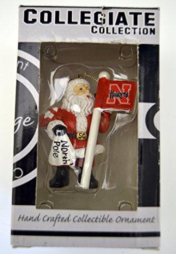 (Sterling Officially Licensed NCAA University of Nebraska Cornhuskers Santa Fan North Pole Christmas Ornaments Holiday Decoration)