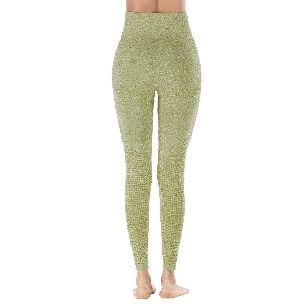 Amazon.com: Pantalones de yoga para mujer, sin costuras ...