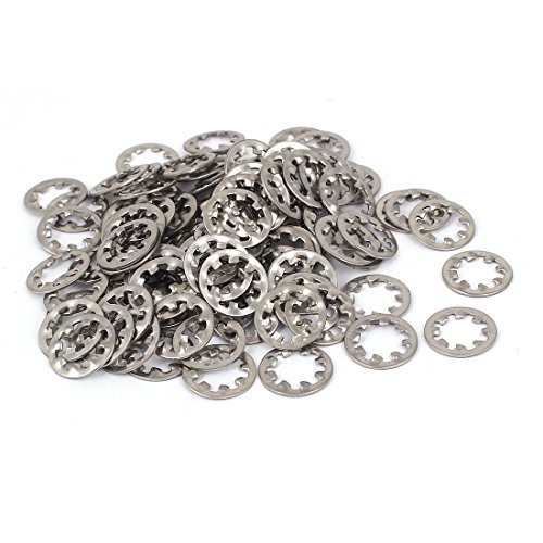 [Uxcell a16032800ux0910 Internal Star Washer M8 304 Stainless steel Internal Tooth Star LOCK Washers 50 Pcs] (Silver 52 Tooth)