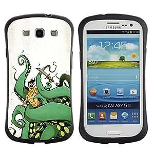 "Pulsar iFace Series Tpu silicona Carcasa Funda Case para SAMSUNG Galaxy S3 III / i9300 / i747 , Sea Octopus Monster Patas Verdes Océano Arte"""