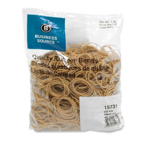 Business Source Size 14 Rubber Bands - 1 lb. Bag (15731) (2 Pack)