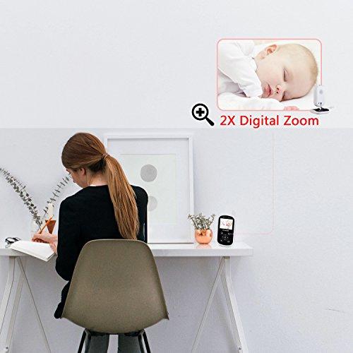Video Baby Monitor, UU Infant Night Vision Camera Temperature Monitor with Alarm, Night Light, 2 Way Talkback Audio[Baby Car Mirror Included]