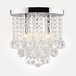Surpars House Crystal Chandelier,3 Lights,11