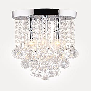 Surpars House Crystal Chandelier,3 Lights,11