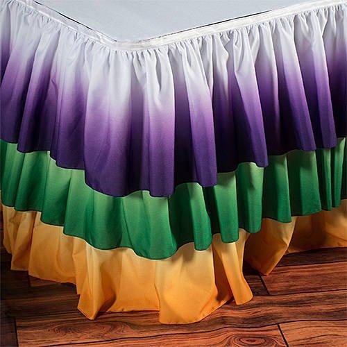 Mardi Gras Three Tier Table Skirt by Shindigz