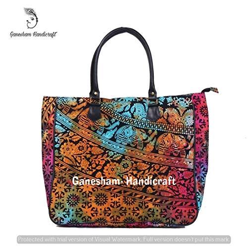 Designer Hippie Bag Shopping Bohemian Tote Mandala Handmade Cosmetic Satchel For Ethnic Hand Shoiulder Boho Cotton Handle Handbags Gypsy Tribal Bags Hobo Top Woman qaUCqr