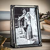 J Devlin Pic 360-46V Vintage Stained Glass Picture Frame 4x6 Vertical Wedding Photo Frame