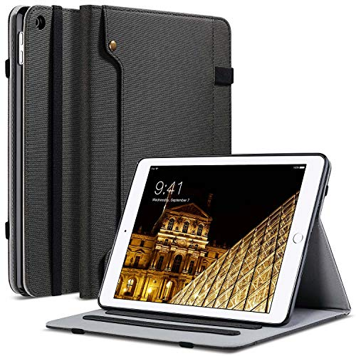 (ULAK iPad Mini 2 Case,iPad Mini Case,iPad Mini 3 Case, Premium PU Leather Folio Stand Protective Case Smart Cover with Multi-Angle Viewing, Pocket, Pen Holder Auto Sleep/Wake for iPad Mini 1/2/3,Black)