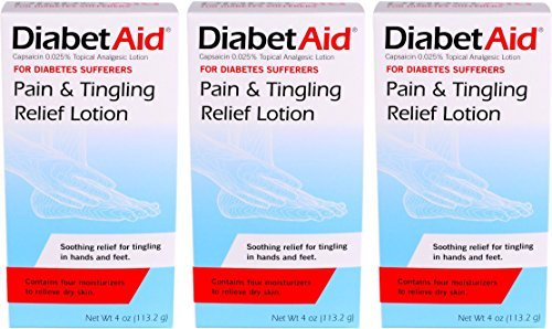 DiabetAid Pain & Tingling Relief Lotion, 4 Ounce (Pack of 3)
