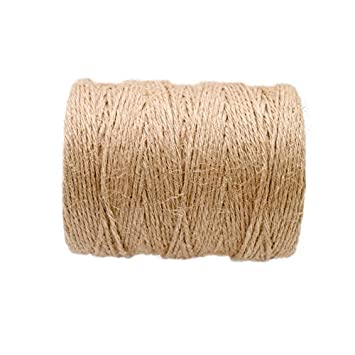 JIJIA Christmas Gift Packing and Garden Bundling 6mm 64 Feet Jute Twine String Strong Hemp Rope Craft Twine for DIY /& Arts Crafts