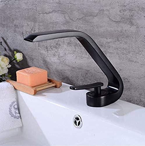 Gulakey 背の高いカウンタートップ洗面ミキサータップ湾曲したバスルームシンクタップクロームブラス浴室トイレキッチンシンクの蛇口シングルハンドルをタップ