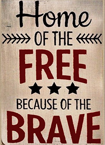 Home Decorative Outdoor 4th of July Home of the Free Because