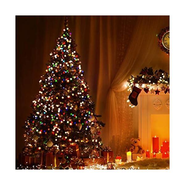 LE Catena Luminosa 13M 100 Lampadina LED RGB, Luci Stringa Impermeabile per Esterno ed Interno, 8 Modalità di Illuminazione e Funzione Timer, Ideale per Decorazione Casa, Natale, Feste, Giardino 6 spesavip