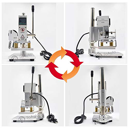 Upgraded Hot Foil Stamping Machine 10x13cm Leather Bronzing Pressure Mark Machine 110V withFull Scale onTheBasePlate for PVC Leather PU Paper Logo Embossing by FASTTOBUY (Image #4)