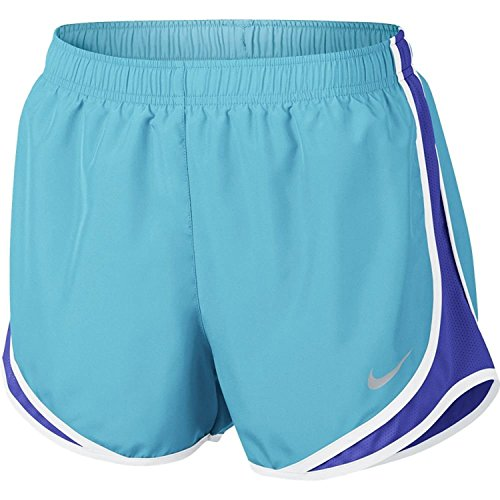 Nike Womens Wet Wicking Colorblock Shorts Vivid Sky / Paramount Blue / White / Wolf Grey
