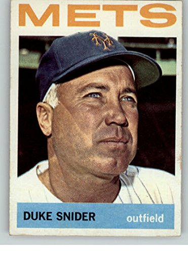 1964 Topps Baseball #155 Duke Snider Mets EX-MT 301736 Kit Young - 1964 Topps Baseball