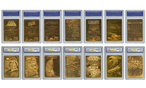 STAR WARS 1996 Original Genuine 23KT Gold Cards - Graded Gem-Mint 10 - SET OF 7