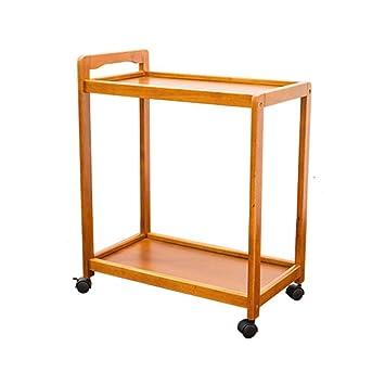 Carros de servicio almacenamiento Estantes móviles de madera maciza Comedor Car Vino Almacenamiento Carretillas Cocina Recipiente caliente Para enviar ...