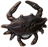 Blue Crab Doorbell Ringer - Oiled Bronze