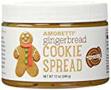 Amoretti Natural Creamy Cookie Butter Spread, Gingerbread, 12 Ounce