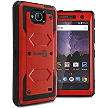 ZTE Majesty Pro Plus Case, ZTE Majesty Pro Hard Case, ZTE Tempo Case, CoverON Tank Series Full Body Front and Back Heavy Duty Hard Protective Phone Cover - Red