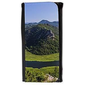 le portefeuille de grands luxe femmes avec beaucoup de compartiments // F00003640 Montenegro montañas lago de agua verde // Large Size Wallet