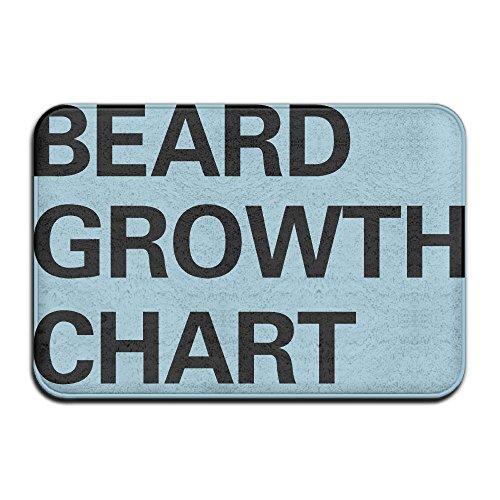 Rug Growth Chart (Hongclever Door Floor Mat Rug Anti-Skid Foot Pad Beard Growth Chart Water Absorption Doormats For Home Bathroom)