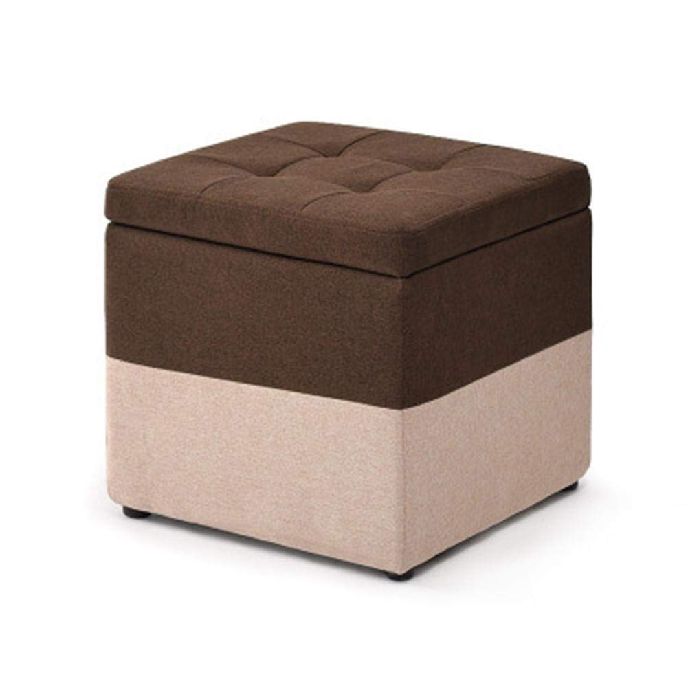 Kbsin212 Ba/úl Puff Taburete para almacenaje Plegable Ottoman Tela de Lino de algod/ón Caja de Cubos Ahorro de Espacio Port/átil Asiento de Picnic