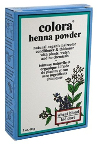 Colora Henna Powder Hair Color Wheat Blonde 2 Ounce (59ml) (6 Pack) by Colora Henna