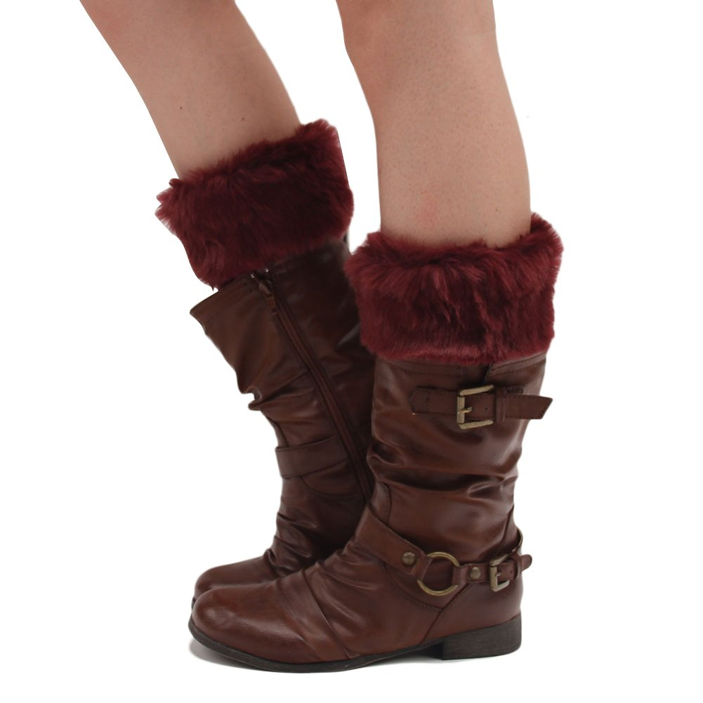 Tininna Low Gaiter Boots with Knitted Faux Fur Boot Toppers
