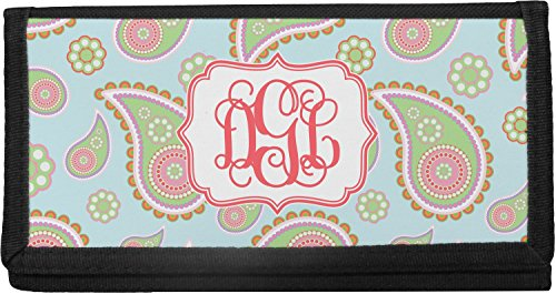 Blue Paisley Checkbook Cover (Personalized)