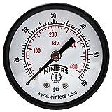 Winters PEM Series Steel Dual Scale Economy Pressure Gauge, 0-60 psi/kpa, 2