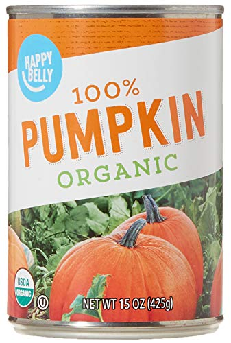 Amazon Brand - Happy Belly Organic 100% Pumpkin, 15 Ounces (Pack of 12)