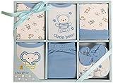 Baby Shower Gift Idea: Big Oshi Baby Infants 6 Piece Layette Gift Set, Blue,