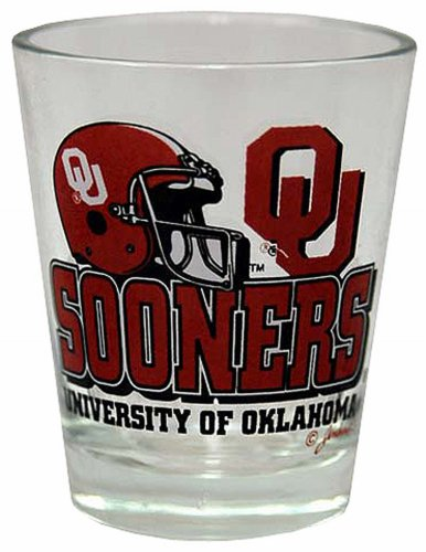 Oklahoma Sooners Team Glass Helmet - 1