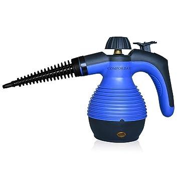 Comforday Limpiador Portátil Máquina Limpiador a Vapor Eléctrica, Mano Limpiadoras a Vapor con 9 Piezas
