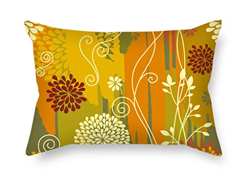 MaSoyy Flower Pillow Shams 12 X 20 Inches / 30 By 50 Cm Gift Or Decor For Shop,kitchen,home Theater,living Room,club,gf - Twin Sides ()