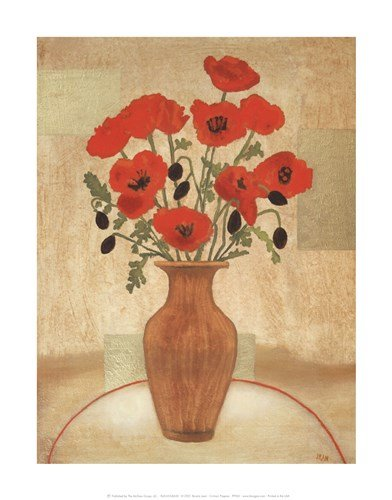 Crimson Poppies by Beverly Jean - 11x14 Inches - Art Print Poster
