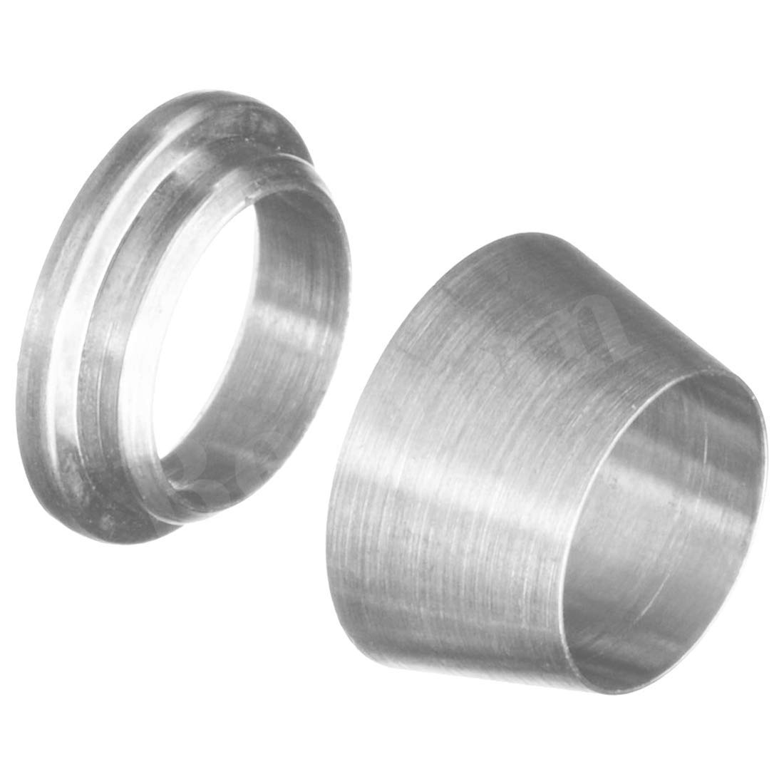 Beduan 304 Stainless Steel Compression Fitting Ferrule Sleeve 1//4 Tube OD Double Ferrule Ring Tubing Fitting(Pack of 10