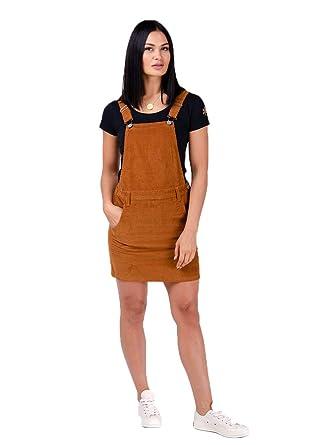 Wash Clothing Company Peto Falda de Corduroy - Marrón Vestido de ...